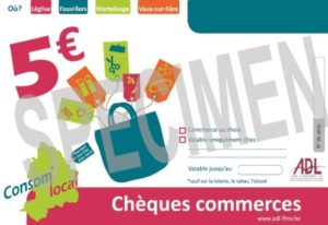 Chèques Commerces ADL