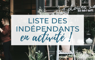 Liste des indépendants en activité
